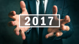 Business opportunities in 2017, businessman making plans for the new year.